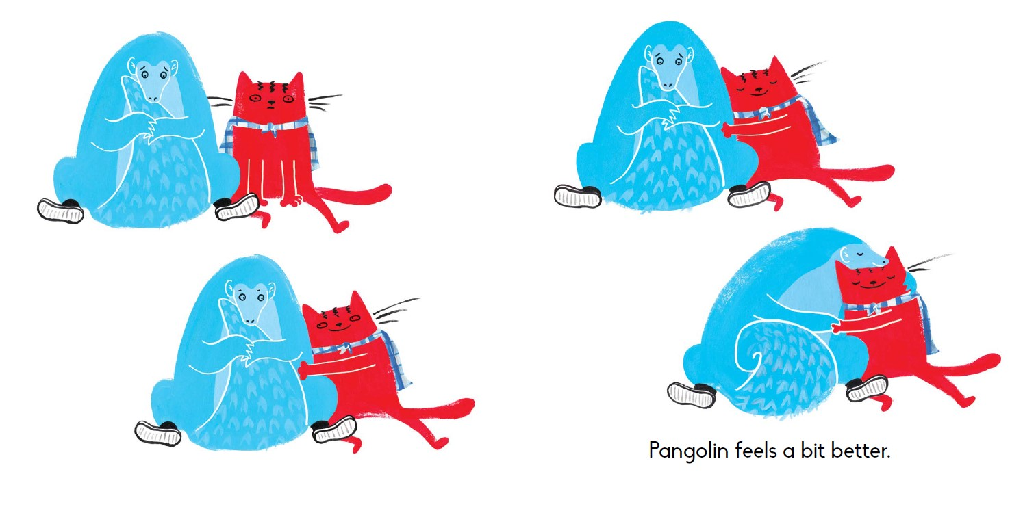 DOODLE CAT WEARS A CAPE spread 2 resized